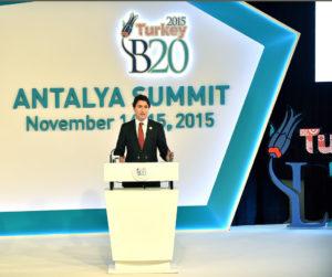 Traducción simultánea para el G20-B20 de Antalya (2015) - Justin Trudeau