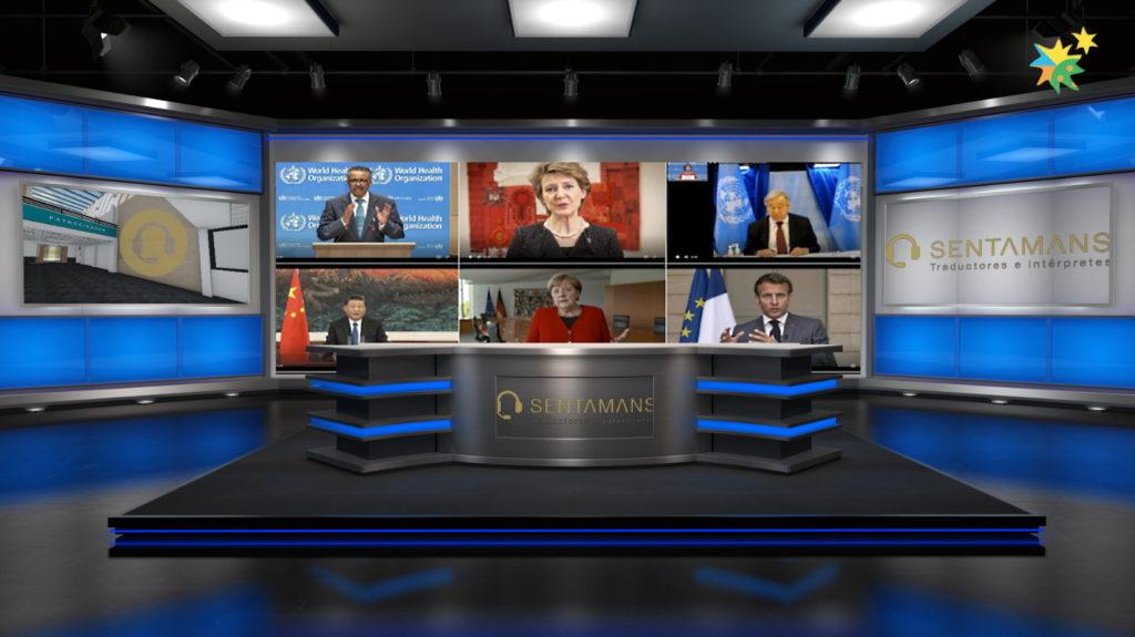 Traducción simultánea webinars - SENTAMANS -Estudio Virtual - Videoconferencias Zoom Webex Teams